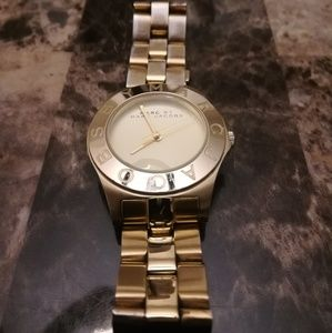 Marc Jacobs Gold Watch. New battery in!